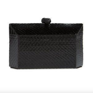 Nancy Gonzalez Grammercy Snakeskin Box Clutch